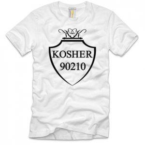 Kosher 90210 White Black Classic T