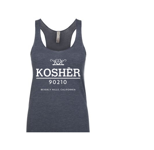 Kosher 90210 Blue White Lifestyle Simplè Tank